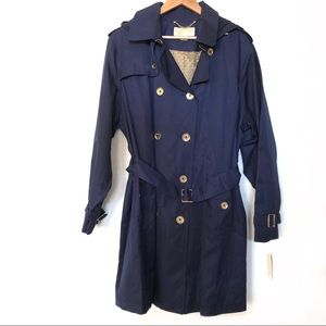Michael Kors Double Breasted Trench Coat Size XXL
